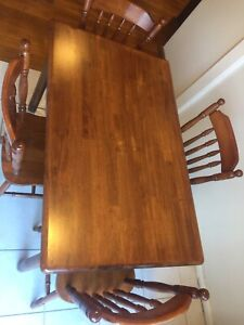 Country Farm Style Dining Table & Chairs Pine