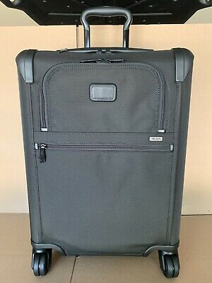 Tumi Alpha 2 Continental Expandable Carry-On Black Suitcase Luggage $750