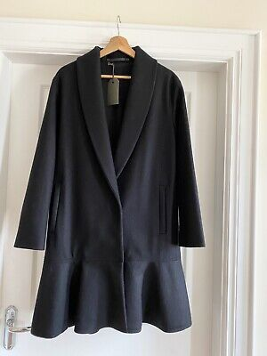 All Saints Ladies Grace Coat Black NEW With Tags £345 - Size...