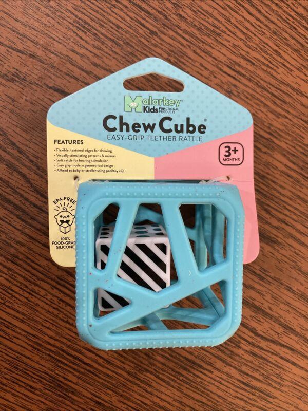 Malarkey Kids Chew Cube Teether (Blue) Free Shipping!