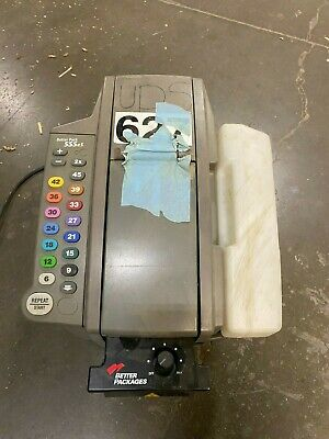 2 Better Pack 555eS Electronic Gum Kraft Tape Dispenser and Assorted Parts Lot