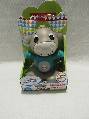 Fisher-Price Linkimals Musical Moose Lights & Color Interactive Sound Counting