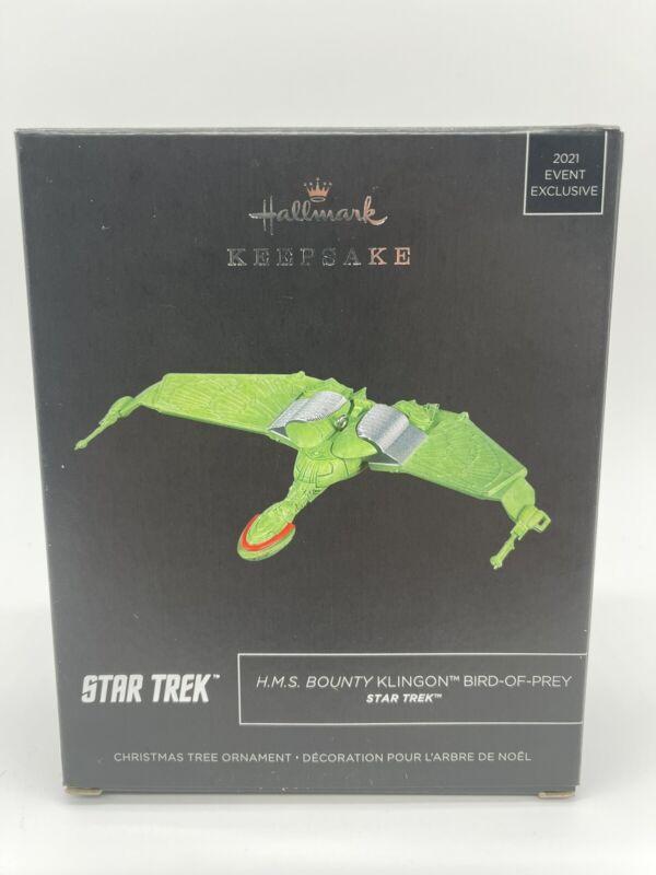 Hallmark Exclusive SDC 2021 Star Trek Klingon Bird of Prey Keepsake Ornament New