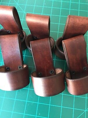 One(1) Handmade Leather Tomahawk, Hammer, Hatchet Belt Carry Loop Holster  BROWN