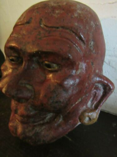 ANTIQUE SEWER TILE FOLK ART  MASK /FACE