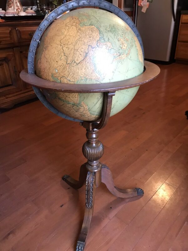 1910-1950s Vintage J. Paul Goode Political Globe
