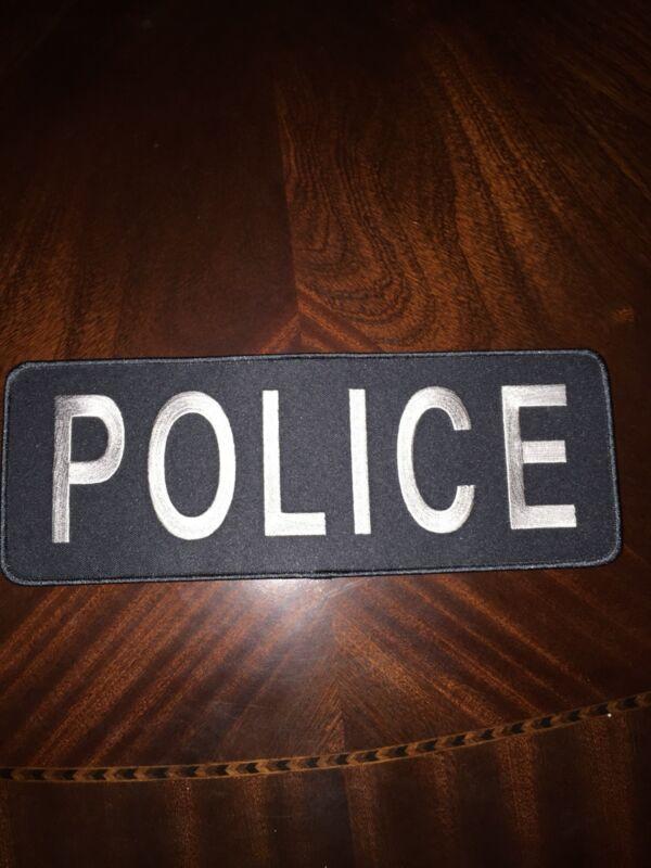 Chicago Police Grey Gray Black Shirt Jacket Uniform Back Patch Badge Emblem 11X4