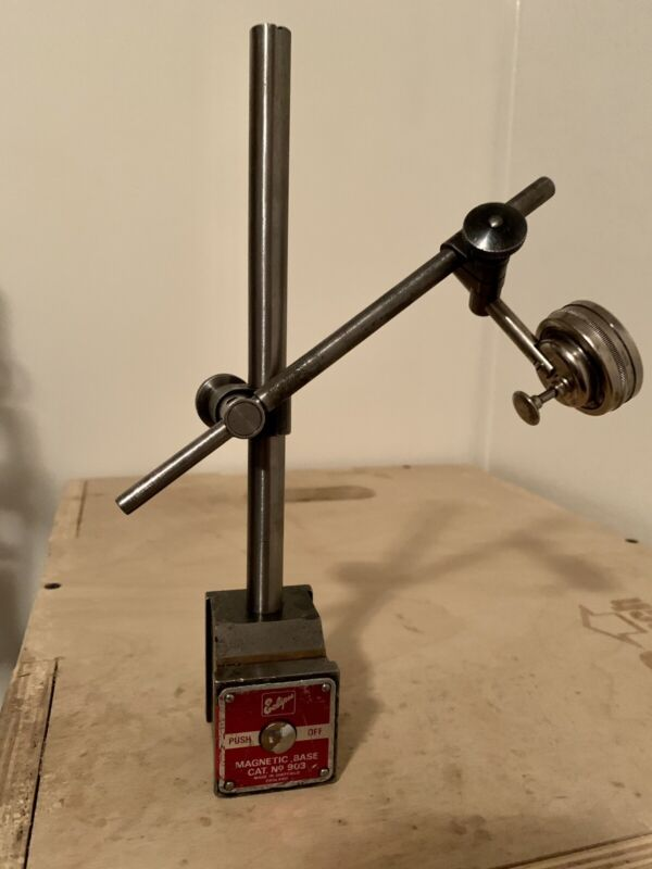 Eclipse 903 Magnetic Base made in England with Starrett 196b dial indicator