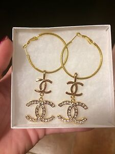 Dior or LV or CC inspired earrings studs London Ontario image 8