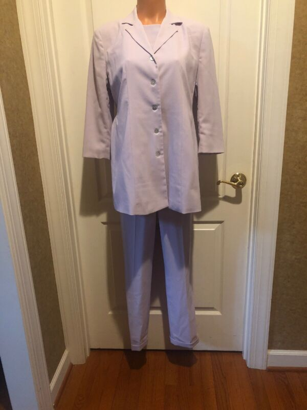 Macy's STEENA Maternity Lavender Purple 3pc Blazer Top Pants Outfit Size S