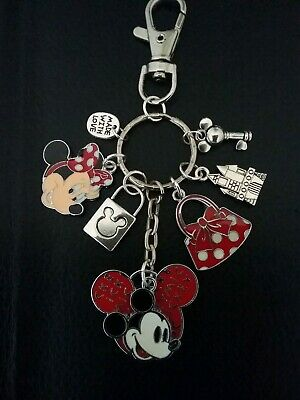 Disneyland Disney Mickey Minnie Mouse Charm Keychain Clip For Purse - Minnie Mouse For Adults