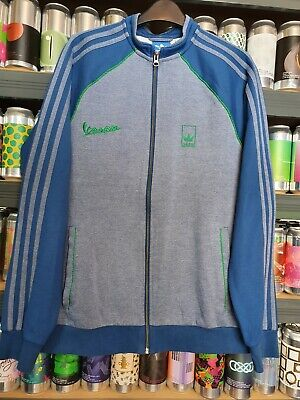 Adidas Vespa Mens Medium Crew Neck Tracksuit Jacket Track Top Retro Rare Vintage