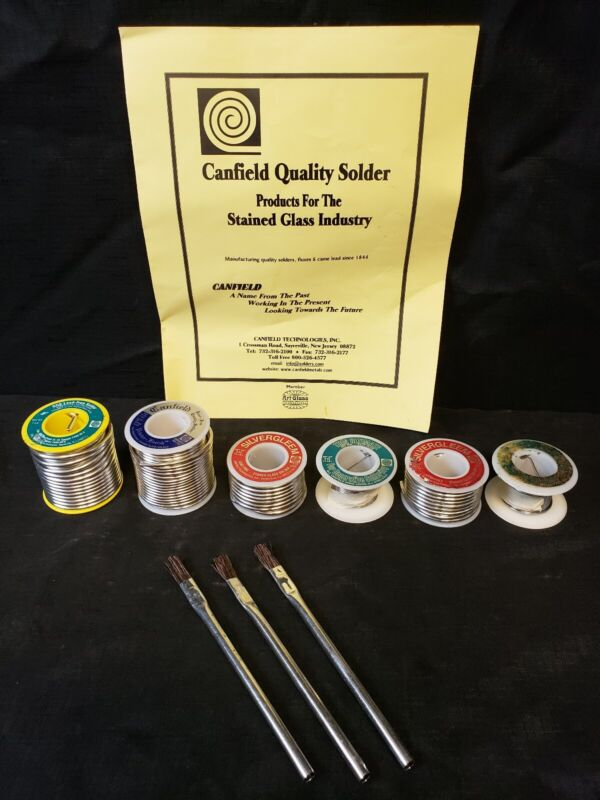 Lot Canfield Silver Gleem 8 oz Thin Ultimate DGS Lead-Free Pewter Finish Solder