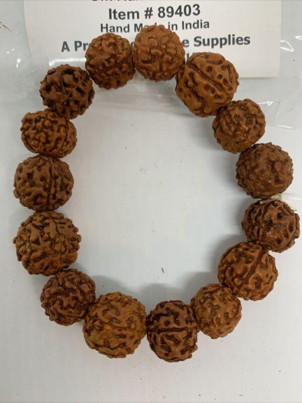 New! Beautiful Rudraksha Bracelet 8mm Beads Size  Handmade For Enlightenment