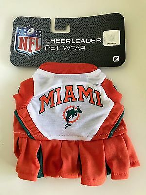 PET DOG COSTUME NFL Miami Cheerleader HALLOWEEN OUTFIT SIZE X Small](Dog Cheerleader Outfit)
