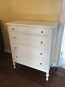 White Antique Dresser