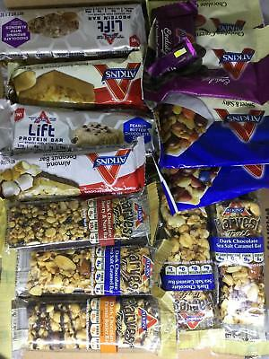 100 Assorted Atkins Meal  Treat  Harvest And Endulge  Lift  Snack Bars  Rd  Desc