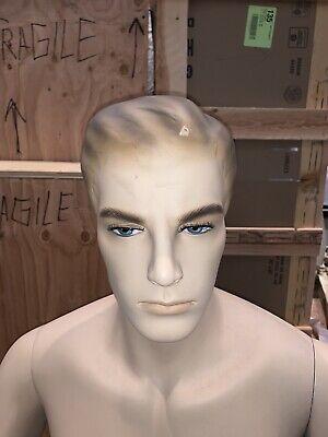 Vintage Mannequin Male Torso Creepy Oddities Industrial Artifact