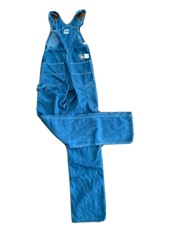70s LEE Jeans Overalls 046-4047 DeadStock VTG USA Made NOS Work Wear 26x34 WMS 4
