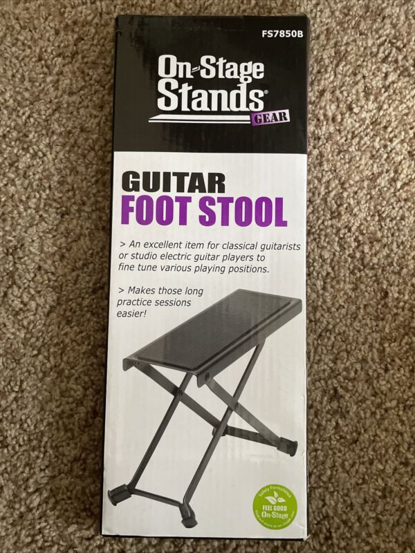 """On Stage Stands"" Guitar Foot Stool Foot Rest Adjustable Heights Folding Style"