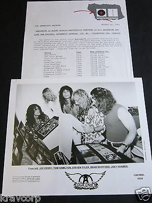 AEROSMITH 'REMASTERS' 1993 PRESS KIT—PHOTO