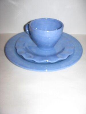 Pfaltzgraff, Napoli, Blue, 3 piece Place Setting, Solid Blue, Dinner, Salad, Mug
