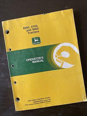 John Deere 8560 8760 8960 Tractor Operator Manual Book Guide Maintenance Shop