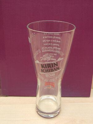 Kirin Ichiban Japan's Prime Brew half pint glass