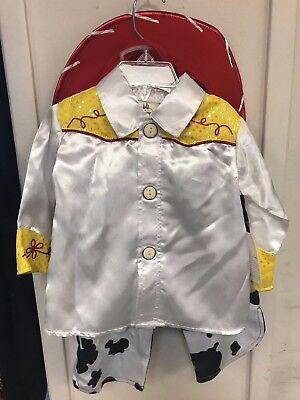 Disney Store Toy Story Jessie Cowgirl 2pc Costume Pants + White + HAT Shirt Baby - Infant Jessie Toy Story Costume