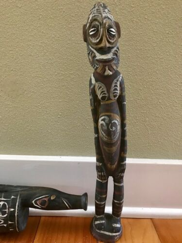 Ethnographic Oceania New Guinea carvings
