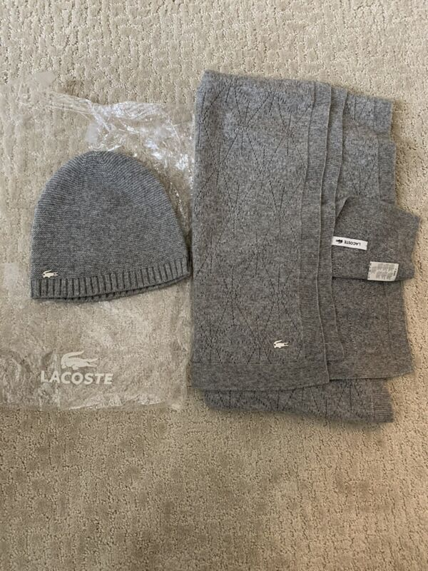 Lacoste Womens Hat And Scarf Set, EUC