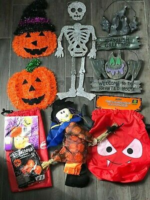 Jack Skeleton Halloween Decorations (Halloween Decorations Die-Cut Skeleton, 2 Wooden Carved, 2 Jack-O'-Lantern, etc)