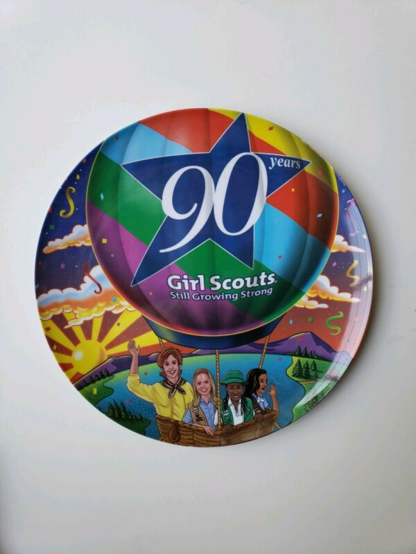 """Girl Scouts 90 Years Collector Melamine 9 1/2"""" Plate 2002"""