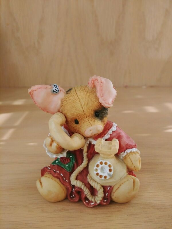 """This Little Piggy Figurine """"Sow Are Things With You?"""" Enesco 1994"""