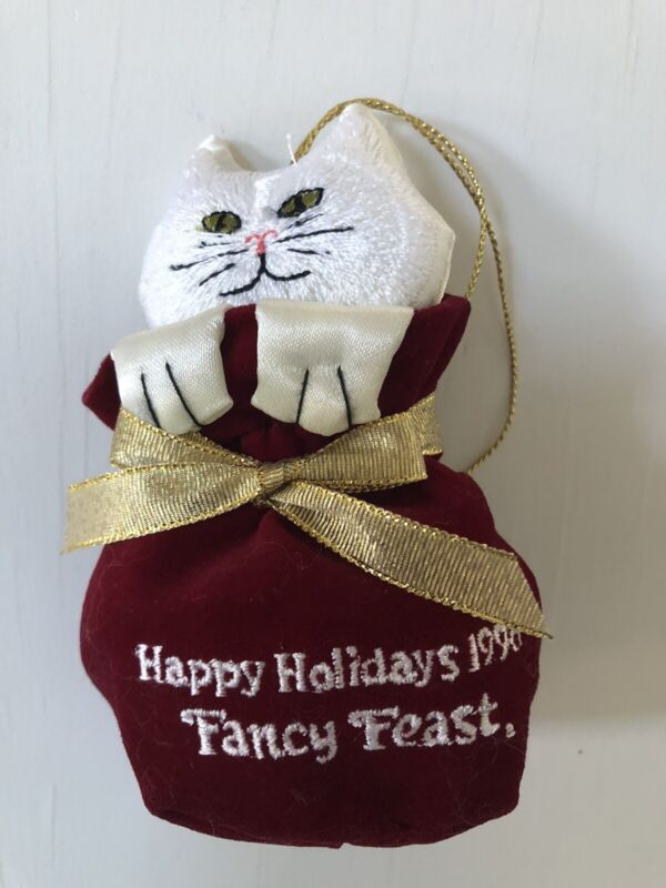FANCY FEAST Christmas ORNAMENT 1996 Collectible