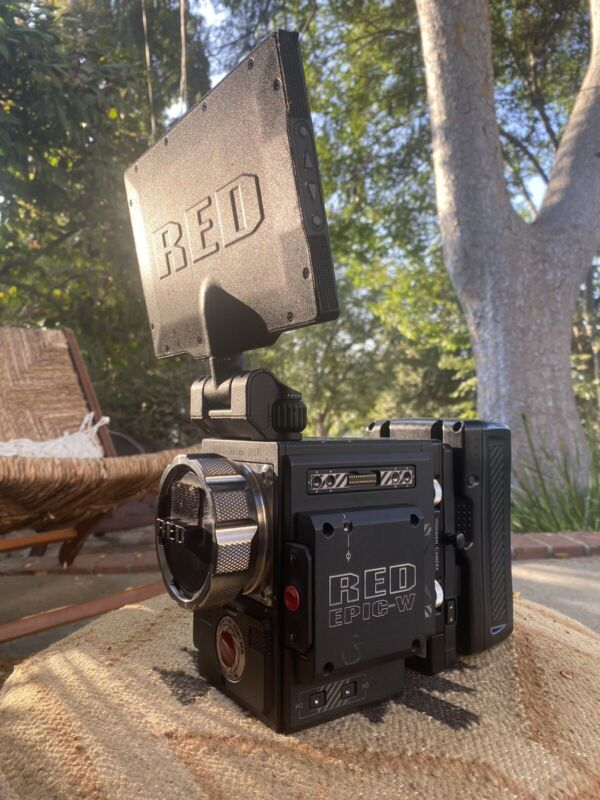 """RED Epic-W Helium 8K DSMC2 (2) 1TB Minimags 7"""" Touch, Bomb EVF Batteries Case"""