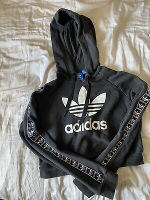 Adidas Crop Hoodie - Size 8