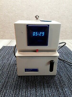 Vintage Lathem Model 2126 Dd Digital Time Clock Punch Clock Works.