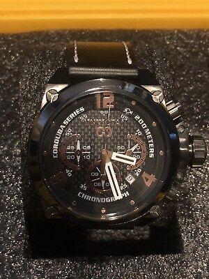 Invicta 22171 50mm Corduba Quartz Chrono Leather Strap Watch W/ 8-Slot Dive Case