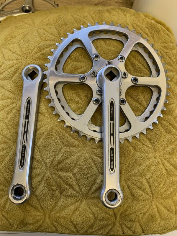 Vintage TA Specialites Cyclotouriste Chainset 165 Arms Like Stronglight /campag