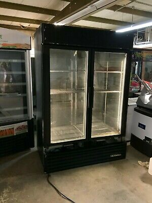True Gdm-49 Black 2 Door Commercial Reach In Refrigerator Cooler - Needs Gasket