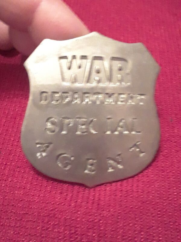 Novelty badge Of War Department Special agent