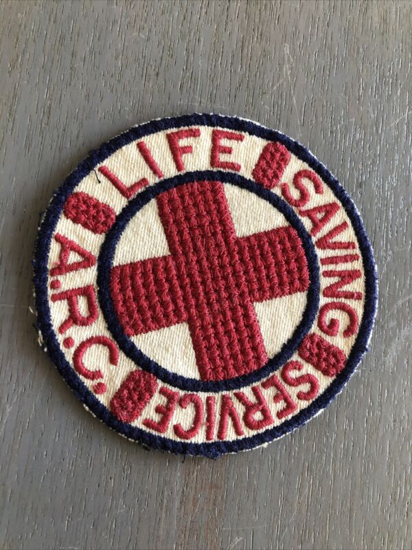 Vintage WWII American Red Cross Life Saving Service Sew On Patch