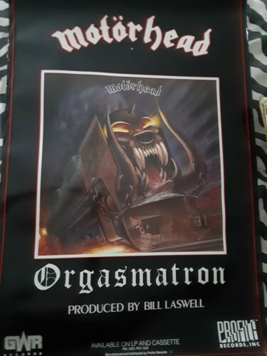 MOTORHEAD 1986 ORGASMATRON official release poster