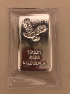 10 oz Eagle Cast Silver Bar .9999