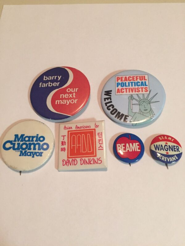 Group Of New York Mayor Buttons
