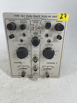 Vintage Tektronix Type 1a1 Dual-trace Plug-in Unit