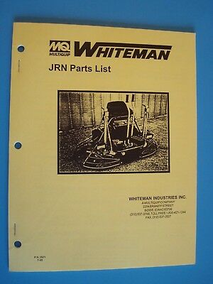 Mq Whiteman Ride-on Power Trowel Jrn Parts Lists  7-95