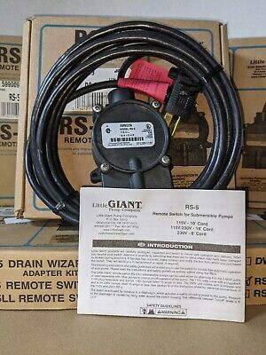 Little Giant Rs-5 Remote Switch For Submersible Pumps 10 Cord