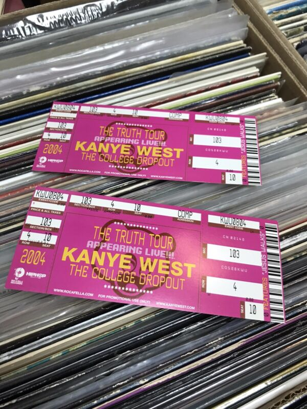 Kanye West - Pair Of Truth Tour Tickets 2004 Unused Hip Hop Rap Promo Only Item